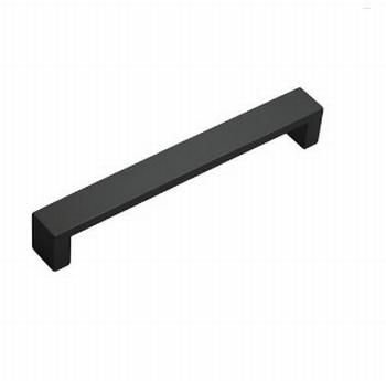 Design meubelgreep mat zwart -  128/138mm