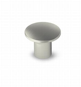 Knop Esbo - Edelstaal finish geborsteld - Diameter 26mm<br />Per stuk