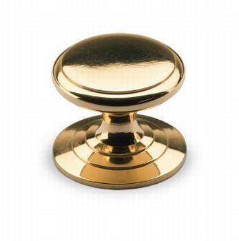 Knop Sala - Messing gepolijst - Diameter 25 mm<br />Per stuk