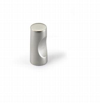 Knop Almus - Mat vernikkeld - Diameter 12 mm<br />Per stuk