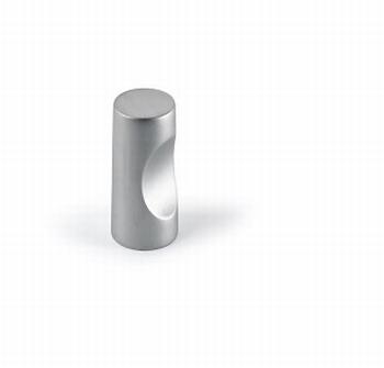 Knop Almus - Mat verchroomd - Diameter 12 mm<br />Per stuk