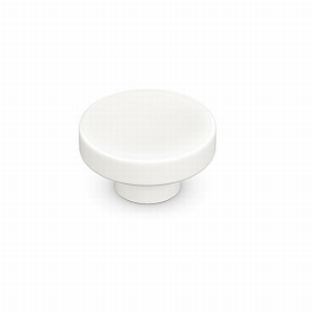 Knop Sosa - Porselein wit - Diameter 43 mm<br />Per stuk