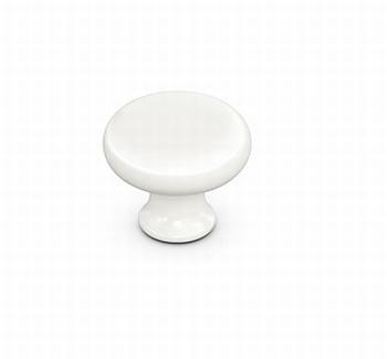 Knop Psilo - Porselein wit - Diameter 32 mm - Hoogte 28 mm<br />Per stuk