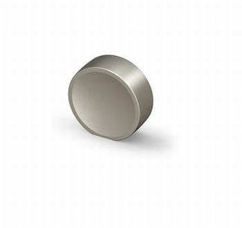 Knop Novoli - Edelstaal finish geborsteld - Diameter 28 mm<br />Per stuk