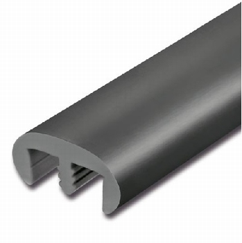 Afwerkrand Classic met veer 28x13mm - zwart - rol 15meter