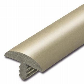 Afwerkband halfrond edelstaalkleurig 20x4mm