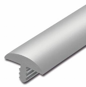 Afwerkband halfrond lichtgrijs 40x7mm