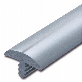 Afwerkband halfrond metallic middelgrijs 20x4mm