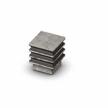 Knop Calili - Tinkleurig antiek - Breedte 21 mm<br />Per stuk