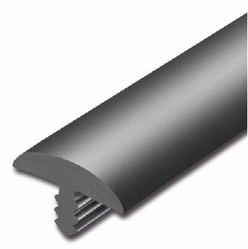 Afwerkband halfrond zwart 30x4,3mm