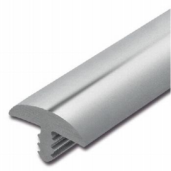 Afwerkband halfrond zilvergrijs 40x7mm
