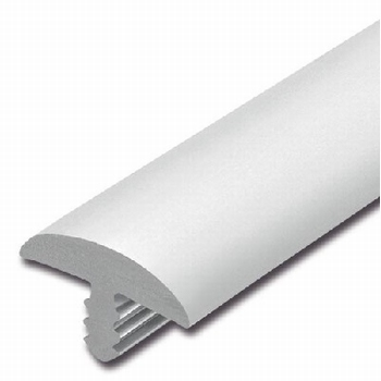 Afwerkband halfrond wit 20x4mm