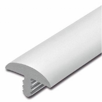 Afwerkband halfrond wit 40x7mm