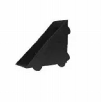 Beschermhoek 50x50mm - voor plaatdikte: 11-12mm - zwart
