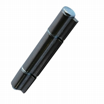 Aanlasscharnier Blank staal verhoogd - 80x13mm - 3 delig