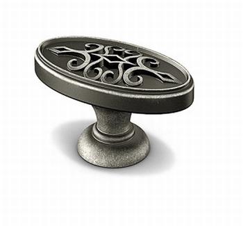Knop Sertao - Tinkleurig antiek - Lengte 45 mm<br />Per stuk