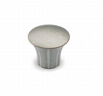 Knop Eburaco - Zilverkleurig antiek - Diameter 33 mm<br />Per stuk