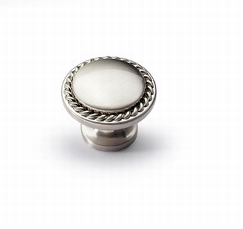 Knop Salemi - edelstaal finish geborsteld - Diameter 30 mm<br />Per stuk