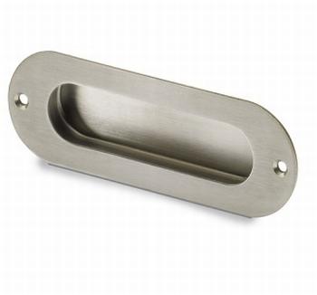 Greep Dodona - geborsteld edelstaal - Lengte 120/110 mm<br />Per stuk