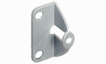 Greepadapter - Zink zilverkleurig voor deurdikte 25mm<br />Per stuk