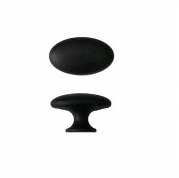 Meubelknop mat zwart - zamak<br />Per stuk