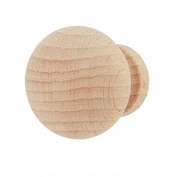 Meubelknop beukenhout - diameter 33mm<br />Per stuk