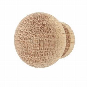 Meubelknop eikenhout - diameter 33mm<br />Per stuk