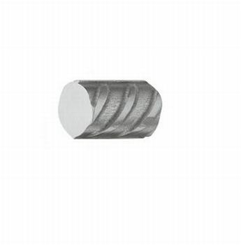 Ruige RVS bouwstaal knop 12mm - 20mm hoog<br />Per stuk