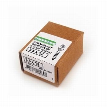 Spaanplaat/houtschroeven 3,5x12mm - doos per 200 stuks<br />Per doos