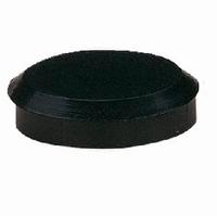 Meubelpoot aluminium mat zwart 37mm - hoogte 120mm<br />per stuk
