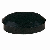 Meubelpoot aluminium mat zwart 37mm - hoogte 120mm