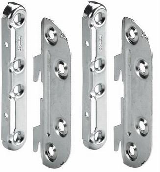Druk-magneetsnapper met slag 40mm - antraciet<br />per stuk
