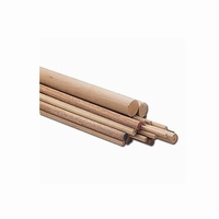 Beuken staaf geribbeld - diameter 10mm - lengte 100cm<br />per stuk
