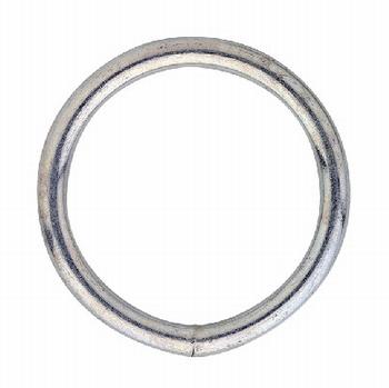 Gelaste ring 25x4mm / verzinkt<br />per stuk