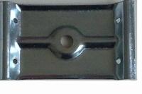 Tafelhoekplaat 75x120mm - 1 - gaats<br />Per stuk