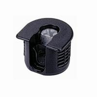 Verbinder kunststof zwart - voor boor 20mm<br />per stuk