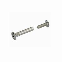Verbindingsschroef staal vernikkeld 28-36 mm<br />per stuk