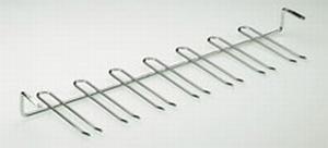 Glashouder staal verchroomd - 7 rijen<br />per stuk