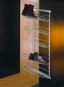 Uittrekbaar schoenenrek - frame met 5 rekken<br />per set