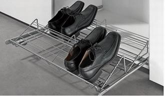 Verstelbare schoenenrek 315 op rolgeleiders<br />per stuk