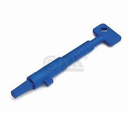 Bouwsleutel kunststof - blauw<br />Per stuk