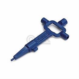 Bouwsleutel zamac - blauw<br />Per stuk