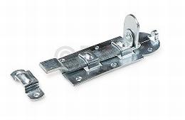 Hangslotrolschuif - met bocht - 180x80mm - staal - verzinkt<br />Per stuk