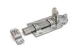 Hangslotrolschuif - vlak- 160x66mm - staal - verzinkt<br />Per stuk