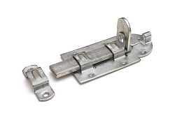 Hangslotrolschuif - vlak- 180x80mm - staal - verzinkt<br />Per stuk
