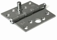 Kogellagerscharnier 76x76mm - RVS geborsteld - SKG**<br />per stuk