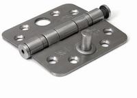 Kogellagerscharnier 89x89mm - RVS geborsteld - SKG***<br />per stuk