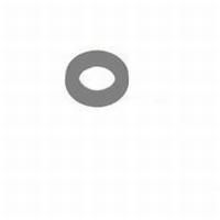 Nylon opvulring voor paumelle 14mm grijs<br />per stuk