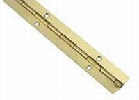 Pianoscharnier staal vermessingd 0.7x32mm - Lengte 100cm<br />per stuk