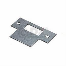 RVS sluitplaat rechthoekig voor slot 1255<br />Per stuk